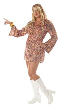 California Costumes Women's Disco Dolly Costume, Multi, 1XL (16-18)