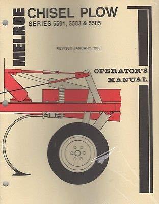 JAN.1980 MELROE CHISEL PLOW SERIES 5501,5503,5505 OPERATOR'S MANUAL (718) ()