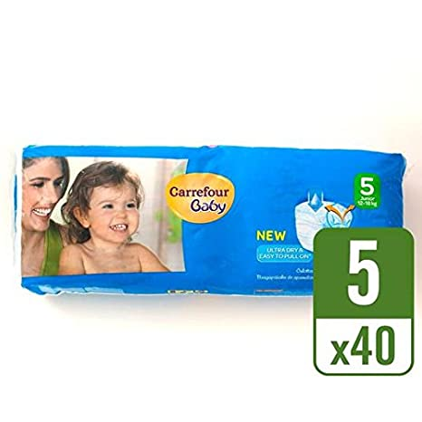 Carrefour bebé Ultra Dry Pull On tamaño 5 Pack de 40 unidades)