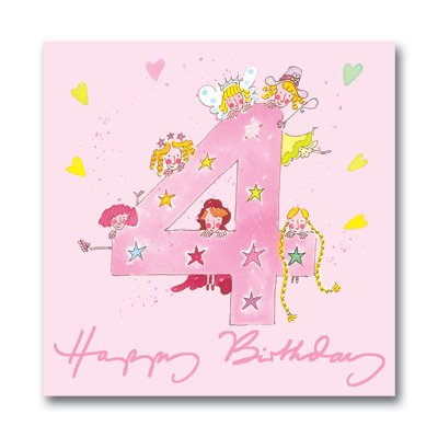 Sophie Allport Greeting Card Happy 4th Birthday Girl Amazon