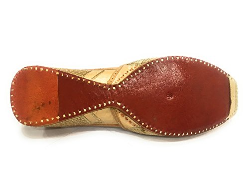 Stap N Stijl Gouden Heren Khussa Schoenen Mojari Punjabi Jutti Etnische Boho Handgemaakte Jooti