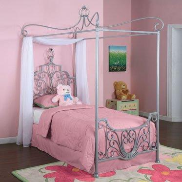Amazon Com Bundle 88 Princess Rebecca Twin Size Canopy Bed In