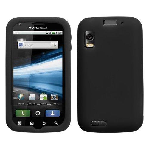 Skin Silicon Olympus (Solid Skin Cover (Black) for MOTOROLA MB860 (Olympus/Atrix 4G))