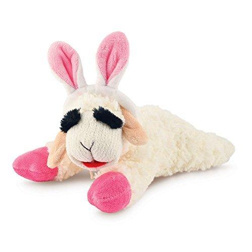 "Lambchop Easter Bunny Ears 10"" Dog Toy"