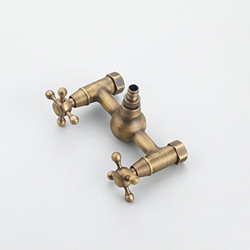 Faucet - all copper hot and cold water into the wall European antique  washing machine 4 points and 6 points mop pool (Color : B)
