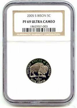 2005 S Westward Journey Jefferson PF69 (Nickel Ngc Jefferson Mint)