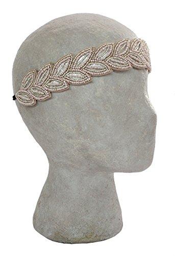 Deepa by Deepa Gurnani Leaves Boho Fashion Headband with Glass Beads … (Blush)