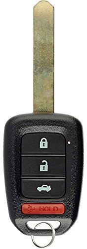 KeylessOption Keyless Entry Remote Fob Uncut Ignition Car Key for Honda Civic Accord