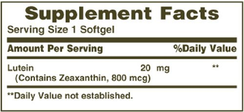 Nature's Bounty Lutein 20mg, 30 Softgels (Pack of 10)