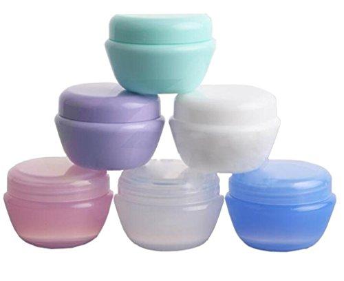 12PCS 5ml / 5g Mixed Color Empty Plastic Cosmetic Makeup Jar