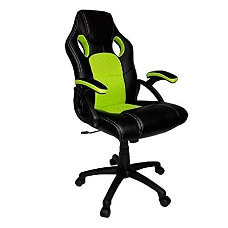 Neotechs® Verde Lima y Negro Piel Sintética giratoria de Oficina Racing Gaming Estilo reclinable Silla de Escritorio para Ordenador: Amazon.es: Hogar