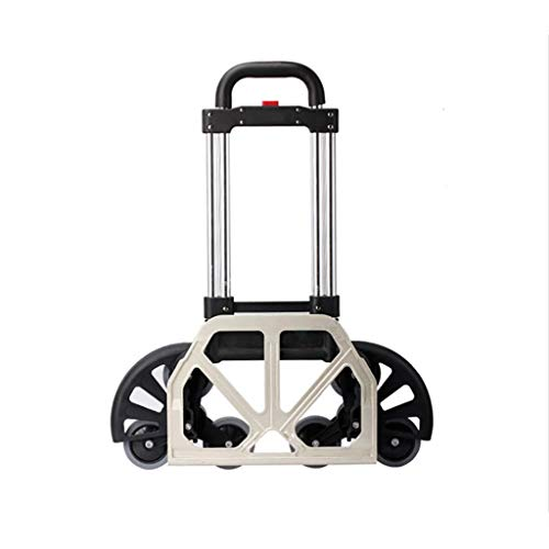 Hand Truck Portable Aluminum Alloy Folding Convertible, Heavy Duty Stair Climber Luggage Cart and Dolly Up to 170 Lb Capacity, Height Adjustable Utility Trucks from Hand Truck