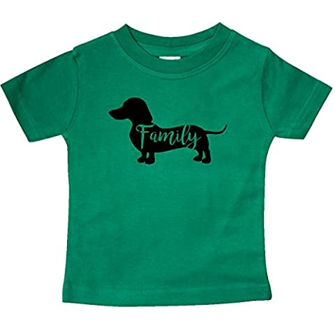 Inktastic - Family Dog- short haired Baby T-Shirt 12 Months Kelly Green - Weiner Green T-shirt