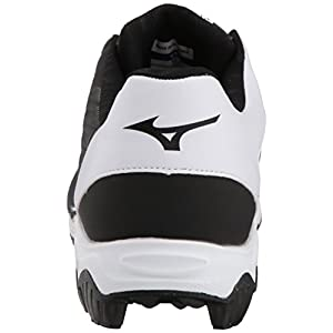 Mizuno (MIZD9) Men's 9-Spike Advanced Franchise 9 Molded Cleat-Low Baseball Shoe, Black/White, 9 D US