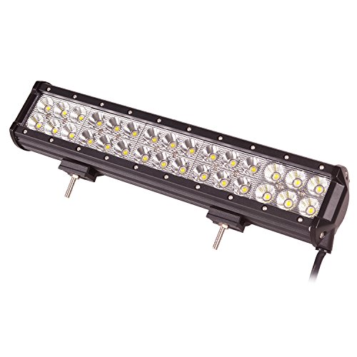 Oplips 12 Inch 72w LED Light Bar Spot Flood Combo Beam Light Bar Off Road Driving Fog Lamp 4x4 Off Road ATV SUV Jeep