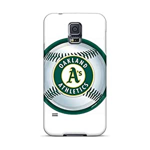 ErleneRobinson Samsung Galaxy S5 Protective Hard Phone Case Allow Personal Design Beautiful Oakland Athletics Pattern [ivT11823WRSL]