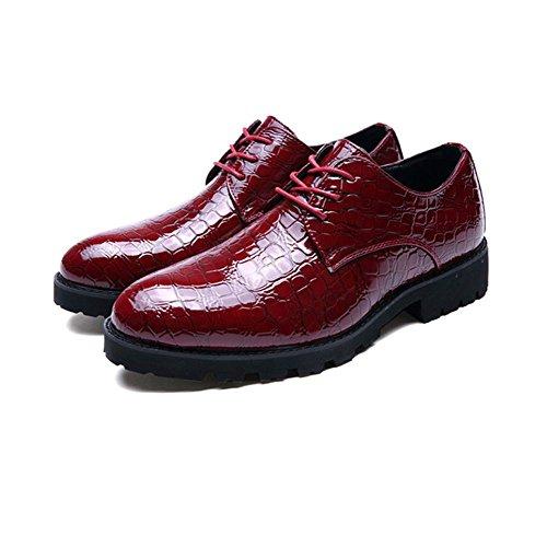 Occasionnels Cuir LYZGF Mariage Hommes de Chaussures Jeunes Mode red Affaires en Coiffure TvtqWwvH