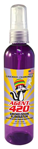 Agent 420-4 oz Cannabis Odor Destroying Spray for Eliminating Pot Smoke, Cigarette Smoke or Most Unwanted Odors in Your House, Car or Apartment, So Freshen Up The