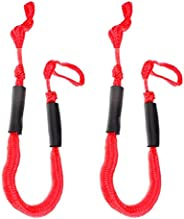 KEBEIXUAN 2Pcs Bungee Dock Lines Mooring Ropes of 4-5.5ft Boating Gifts for Men Boat Accessories Pontoon Acces