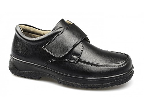 Stallion® Hamill Mens Velcro Wide Fit Padded Shoes Black Black W0oKM