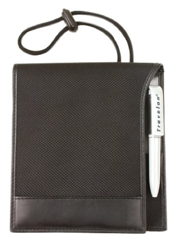 Travelon Safe ID RFID Blocking Classic ID and Boarding Pass Holder - Black