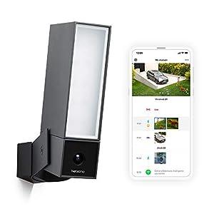 Netatmo Caméra de Surveillance Extérieure Intelligente avec éclairage intégré Presence Sécurité, Détection de Personnes…
