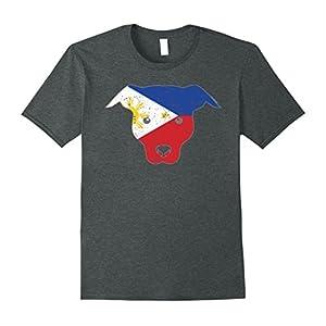 Mens Dog Owner Funny Shirt Philippines Flag Filipino Flag Large Dark Heather
