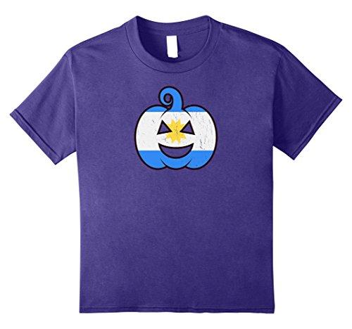 Kids Argentine Halloween Pumpkin T-Shirt - Argentina Flag Costume 12 (Argentina Un Costume)