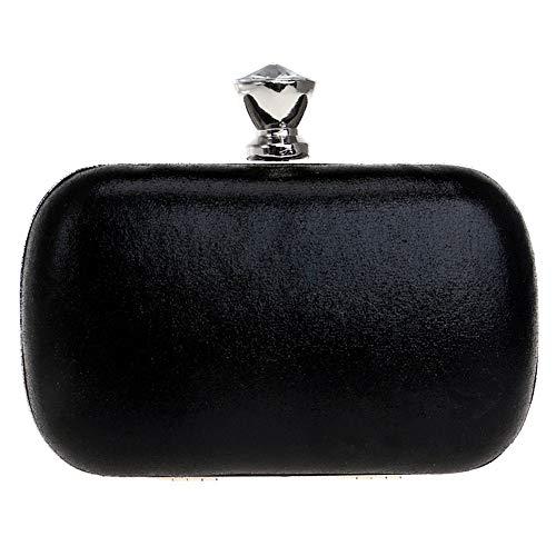 Bags Womens Ladies PU Clutch Dress Purse Black Wallet Evening Wedding Chain Bag 8wqa6ET
