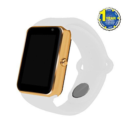 2017 Newest AIYIBEN Bluetooth Smart Watch with SIM Card Slot Smart Health Watch Independent Smart phone for Android IOS Smart watch. (Gold+White)