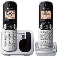 Panasonic KXTGC212S Expandable Digital Phone with 2 Cordless Handsets