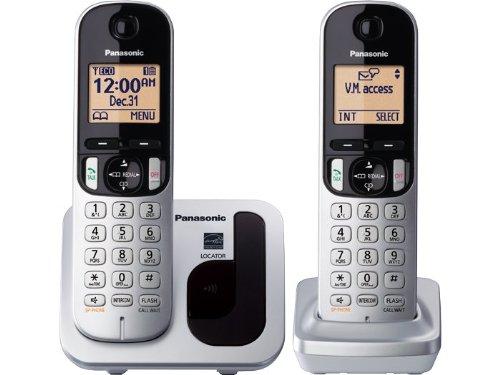 Panasonic Expandable Cordless Phone KX-TGC212S DECT 6.0 - 2 Handsets (Black/Silver)