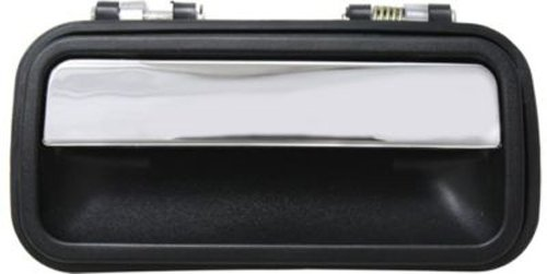 CPP Rear Passenger Side Black w/ Chrome Exterior Door Handle for 1988-1992 Mazda 626