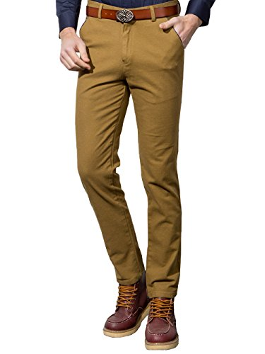 NIELLO Men's Slim Fit Straight Leg Casual Pants Flat-Front Trousers (Casual Pants For Men compare prices)