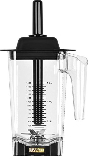 JTC OmniBlend 1.5 Liter Container Replacement Low Profile Square Jug