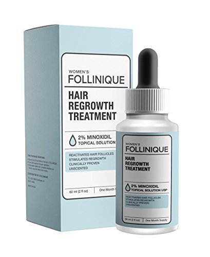 FOLLINIQUE - Incredible Hair ReGROWTH Treatment, FDA Approved, Fast Acting, Clinically Proven Results In 2 Months, 2% (Step 2 Minoxidil)