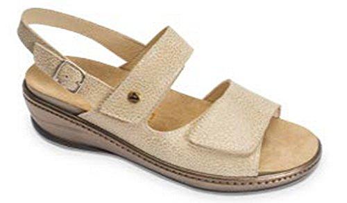 VALLEVERDE - Sandalias de vestir para mujer Arena