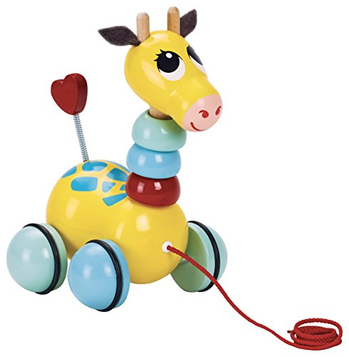 Vilac Vilac1878S Flip Flap Giraffe Pull Toy