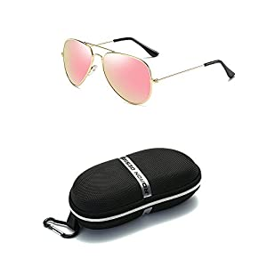 Red Peony Aviator Sunglasses Premium Classic Colored Lens Polarized Sunglasses- UV 400 Protection Sunglasses AORON Design