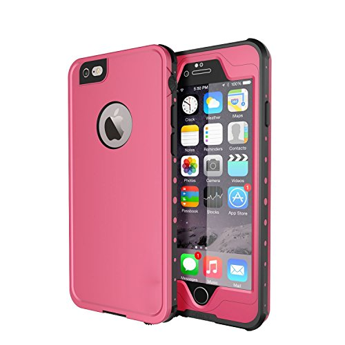 Waterproof and Shockproof Case for iPhone 6/6s (Pink) - 5