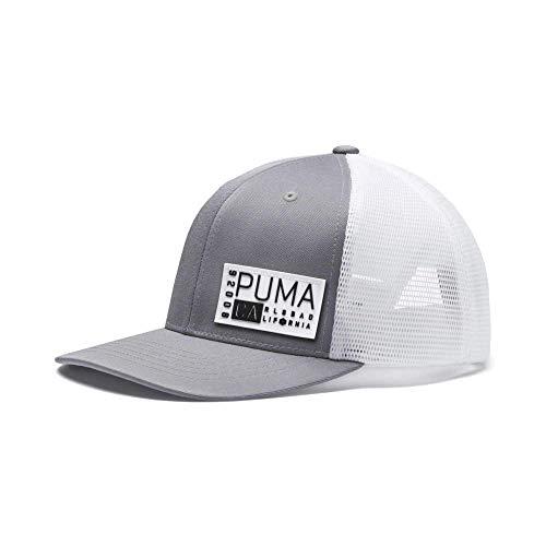 buy online a598b e6ed5 Puma Golf 2019 Men s Trucker Snapback Hat (Men s, One Size), Quarry