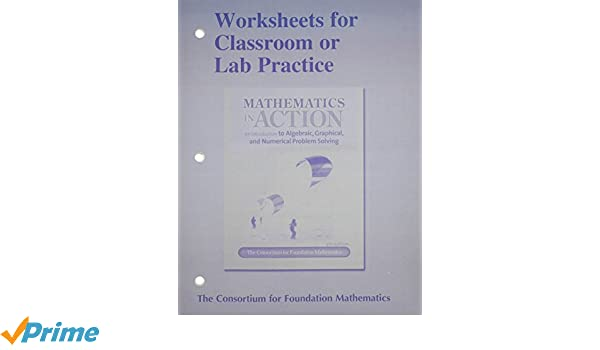 Worksheets for Classroom or Lab Practice for Mathematics in Action ...