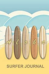 This Hawaiian Aloha Vintage Surfboards Surfer Journal has been designed for the avid surfer to record all their requirements and experiences in one place. The 6 x 9 inch notebook has been created with beginner and professional surfers in mind...