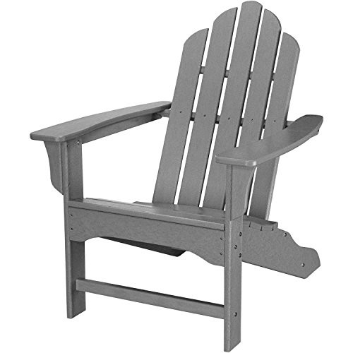 Hanover Outdoor All-Weather Contoured Adirondack Chair, Grey