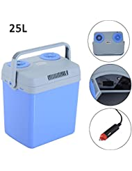 Portable 12V Electric Cooler Warmer Box Fridge Car Boat Travel Mini Fridge 25L