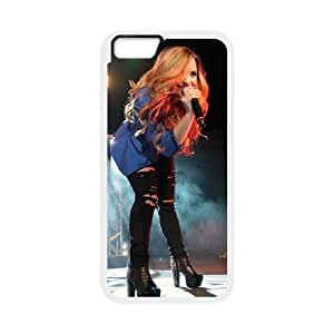 Demi Lovato iPhone 6 Plus 5.5 Inch Cell Phone Case White TPU Phone Case SV_062459