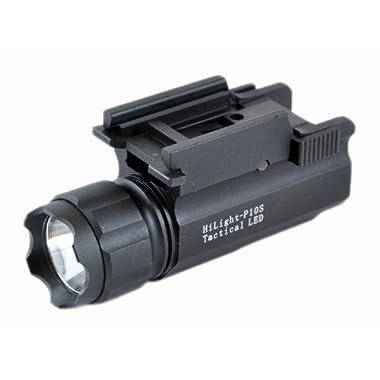 Aimkon HiLight P10S 400 Lumen Pistol LED Strobe Flashlight with Weaver Quick Release, Black