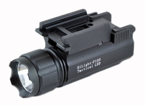 Price comparison product image Aimkon HiLight P10S 500 Lumen Pistol LED Strobe Flashlight with Weaver Quick Release for Glock Series, Sig Sauer, Smith & Wesson, Springfield, Beretta, Ruger, and Heckler & Koch, etc.