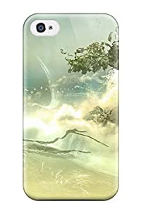 Tpu Shockproof/dirt-proof Nature Cover Case For Iphone(4/4s)
