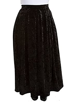 Sealed With A Kiss Designs Womens Plus Size Velvet Maxi Skirt